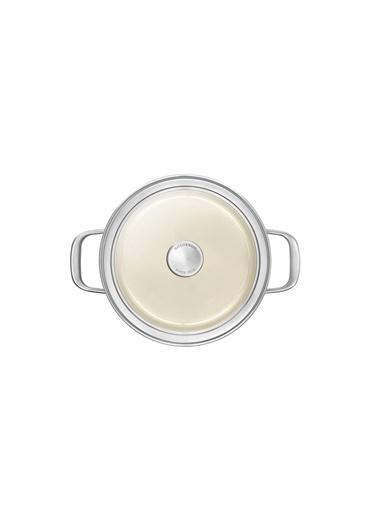 KitchenAid Artisan Cc003269-001 6 Litre 24 Cm Krem Çelik Tencere Renkli